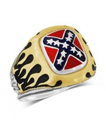 Confederate Battle flag Motorcycle  Flame RING ... - $97.00