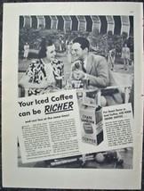 1937 CHASE & SANBORN COFFEE ORIGINAL VINTAGE PR... - $11.99