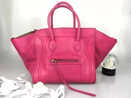 NEW Celine Bordeaux Pebbled Phantom Luggage Tote Handbag
