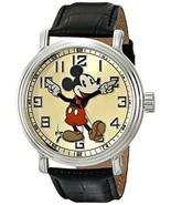 Disney Men's 56109 Vintage Mickey Mouse Watch w... - $27.72