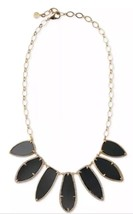 Stella and Dot Allegra Necklace Black and Gold ... - $27.72