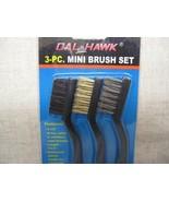 brush set 3pc New 7inch Brush Set, Nyl, Brass, ... - $7.95