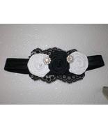 BABY GIRL BLACK HEADBAND WITH HANDMADE BLACK & ... - $12.00