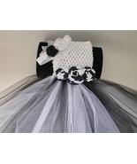 BABY GIRL LONG BLACK & WHITE TUTU PHOTO PROP DR... - $22.00