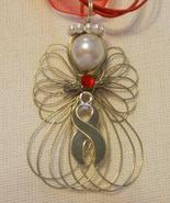 Diabetes Awareness Angel Necklace Handmade on R... - $11.00