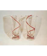 Handblown Red Swirl Glasses - Very Unique Items... - $3.99