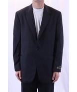 42 L NWT Lubiam Silk Lapel Lined All Wool Black... - $643.50