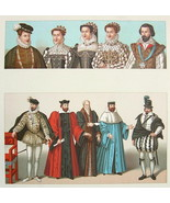 FRANCE 16th C Royal Court Costume Kings Queens ... - $14.26