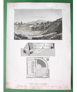 ITALY Remains of Grand Theatre at Pompeii - 185... - $18.51