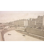 PARIS Place du Petit Pont Seine River in 1880 -... - $33.66