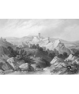ITALY View of Olevano - 1860s Antique Engraving... - $54.45