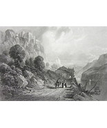 ITALY Rocca d'Anfo Lake of Idro - 1860s Antique... - $54.45