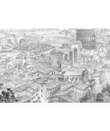 ROME Itlay Remains of Forum Romanum Views - 186... - $54.45