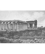 ITALY Three Temples at Peastum - 1860 SCARCE En... - $54.45