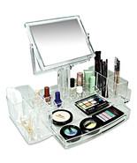 Luxury Acrylic Cosmetic Organizer Two Sided Mir... - $37.52