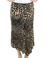 NWT Joseph Ribkoff Black Animal Print Sequin Ru... - $184.14