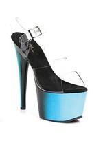 Ellie Shoes 709-OMBRE/BLUE/8 Womens , 7 Inch Mu... - $66.38