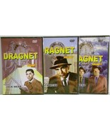 Dragnet Volumes 1,2,3 starring Jack Webb DVD Te... - $7.95