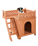 Wooden Puppy Pet Dog House Bedroom Indoor Outdo... - $76.18