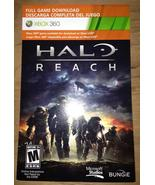 Halo: Reach, xbox 360 game Full Download card c... - $14.99