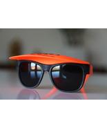 Vintage Tortoise Sunglasses Black/ Neon Orange/... - $15.00