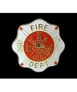 Fire Department Lapel Pin Tac Fireman Maltese C... - $4.97