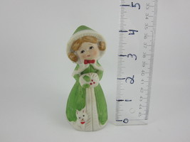 Jasco Porcelain Bell Merri Bells Christmas Girl... - $5.21