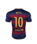Messi #10 Barcelona Home Soccer Jersey 2015 201... - $29.99