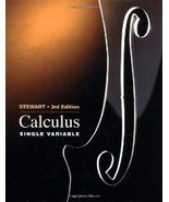Single Variable Calculus by Stewart 0534218288 - $32.24