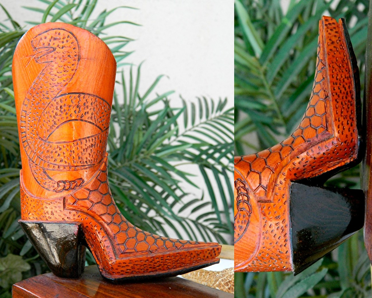 Vintage_cowboy_wood_carved_boot_right_side