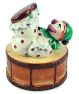 Vintage occupied Japan clown on drum salt peppe... - $30.00