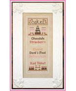 Cake Menu cross stitch chart Country Cottage Ne... - $7.20