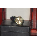 Pre-Owned Men's Roman Numeral Time Gold Tone Le... - $8.00