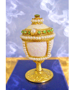 OFFERS ONLY! OOAK ANTIQUE JEWELED EGG EXTRAVAGA... - $40,007.77