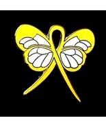 Liver Disease Pin Yellow Awareness Ribbon Butte... - $10.97