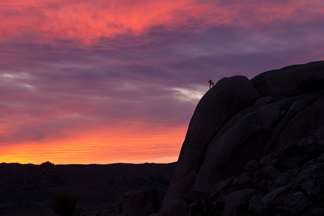 Sunset Rappel - Joshua Tree National Park