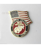 USA FLAG AND US MARINES EMBLEM MARINE CORPS USM... - $4.46
