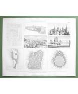 MEDIEVAL TOWNS Nuremberg & Wartburg Castle Manh... - $17.82