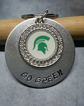 Hand Stamped Go Green Michigan State Spartans K... - $19.60