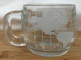 Vintage 1970s NESCAFÉ Glass World Globe Cup Mug... - $12.24