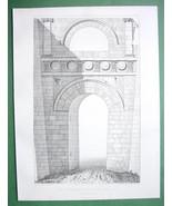 ARCHITECTURE 3 PRINTS : ca 1850 Italy Perugia A... - $24.74