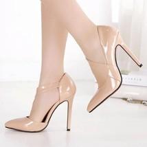 Apricot Point Toe Stiletto Fashion High-Heeled ... - $62.00