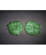 Two Mint Green Fuzzy Hair Scrunchi Pony Tail Ho... - $4.00