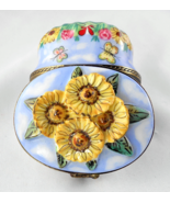 Limoges Box - Summer Oval with Sunflowers Hummi... - $110.00