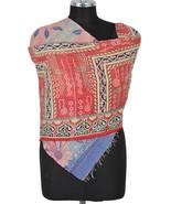 Red Vintage Cotton Kantha Scarf Stole Pashmina ... - $14.25
