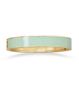 Soft Sage Green Enamel Fashion Hinged Bangle Br... - $6.00