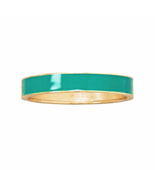 Bright Teal Enamel Fashion Hinged Bangle Bracel... - $6.00