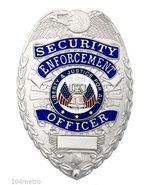 Security Enforcement Officer Badge Deluxe Metal... - $13.97