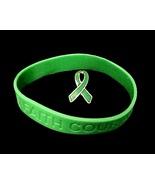 Kidney Donation Green Ribbon Pin Silicone Brace... - $8.97
