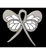 Diabetes Pin Gray Awareness Ribbon Butterfly Su... - $10.97